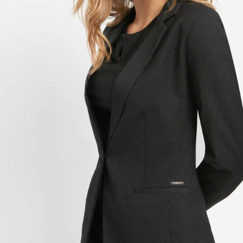 Gestreifter Businessblazer