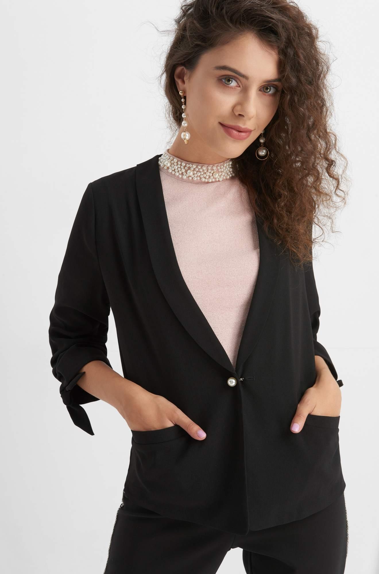 Party Blazer mit Perlen