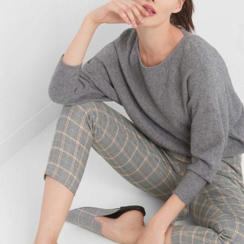 Fledermaus-Pullover mit Schleife