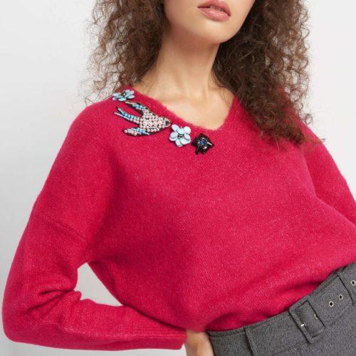 Pullover mit Schmuck-Details
