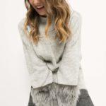 Pullover mit Fellimitat