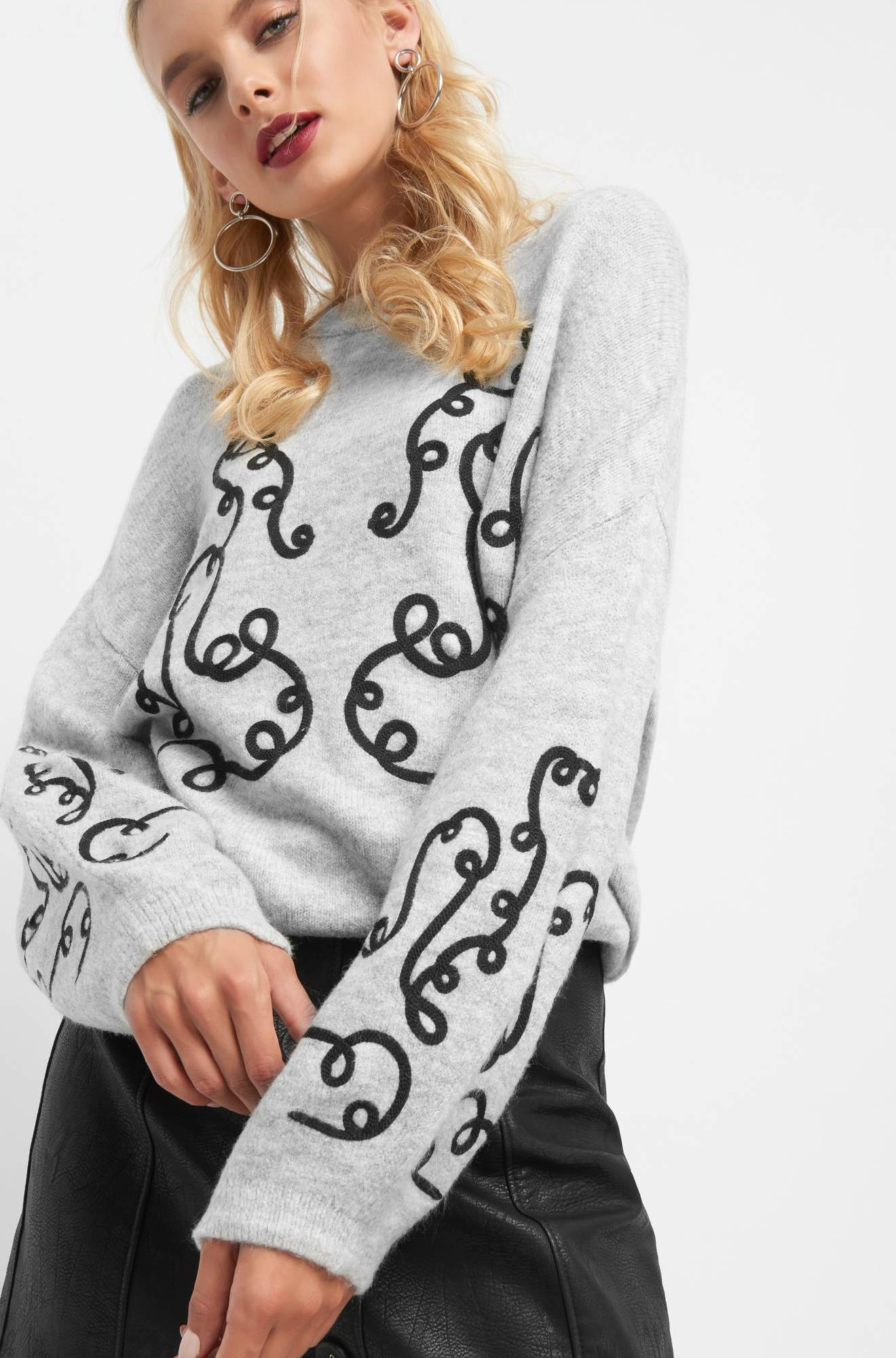 Oversize Pullover mit Print