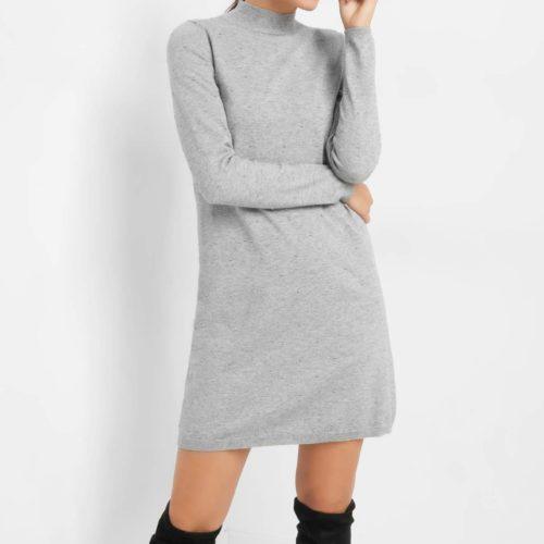 Kleid mit Punkte-Stickerei