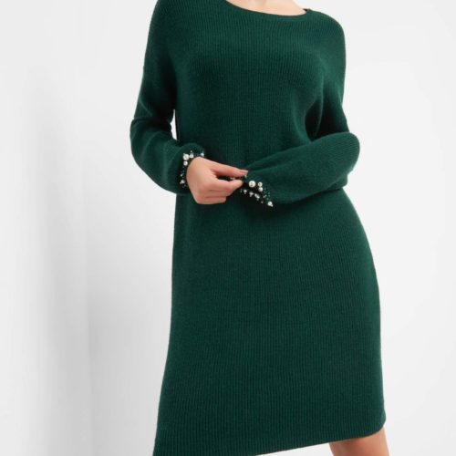 Pulloverkleid mit Steinchen