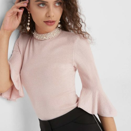 Party Pullover mit Perlen