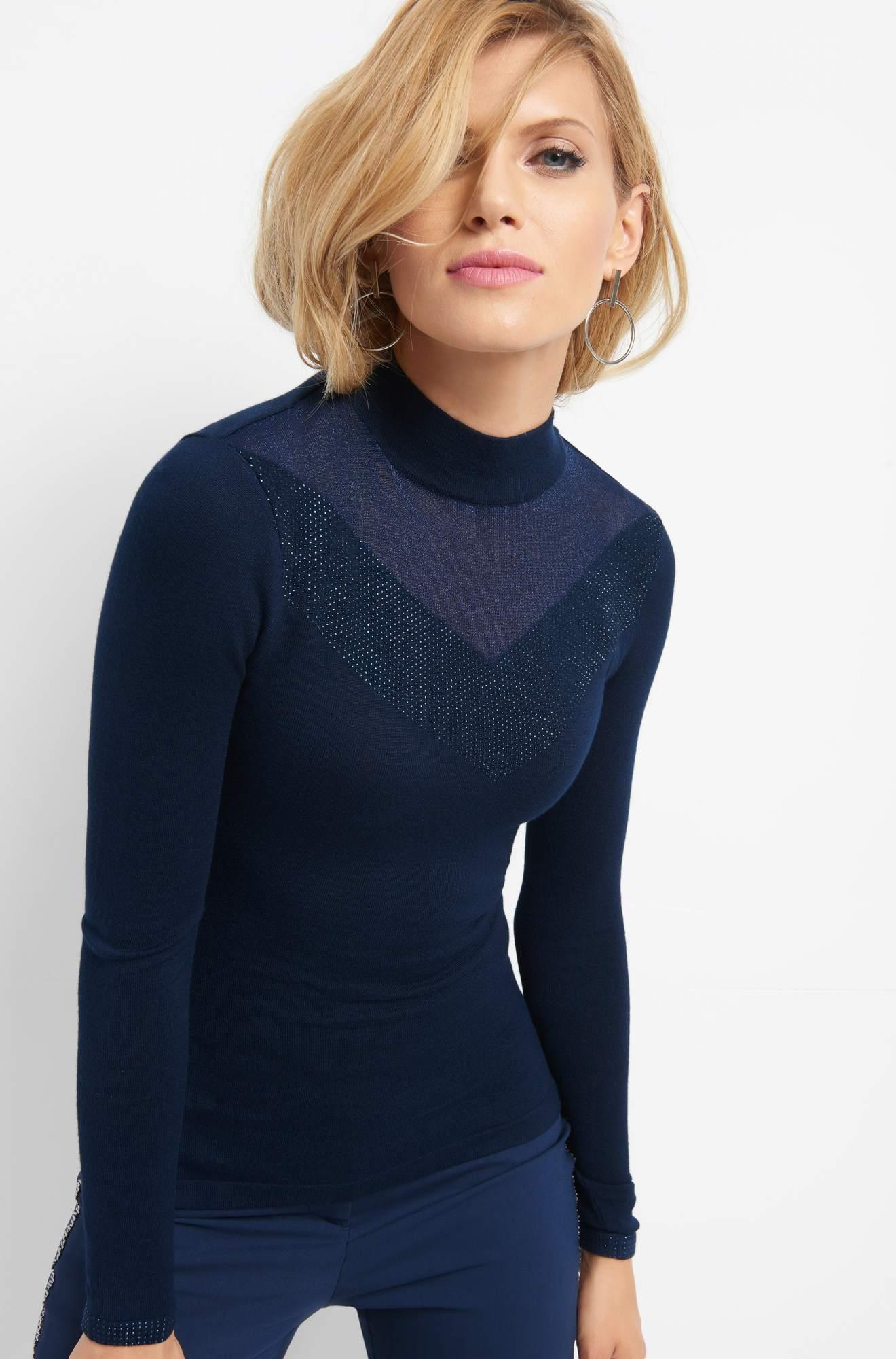 Pullover mit Glitzernaht