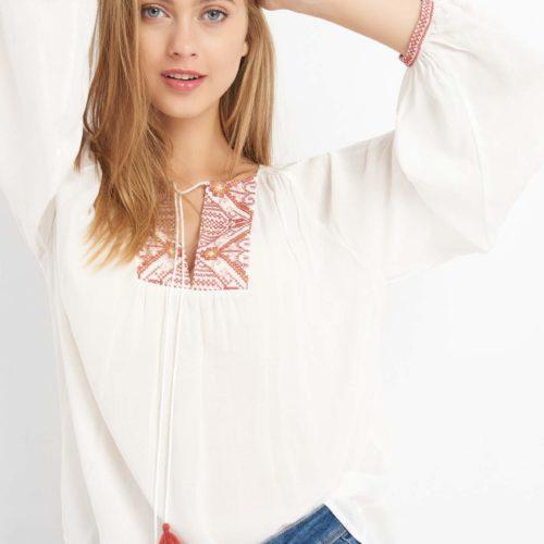 Oversize Boho-Bluse
