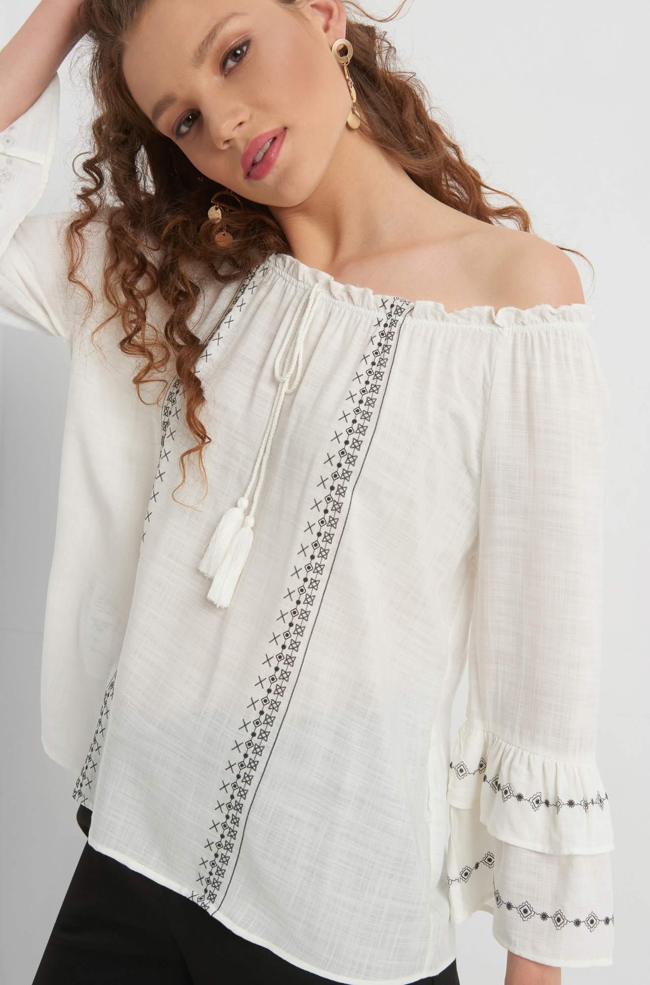 Schulterfreie Boho-Bluse