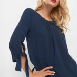 ¾-Bluse mit Cut-Outs