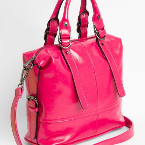 Tasche in Lackleder-Optik