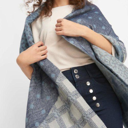 Weicher Schal mit Muster-Mix