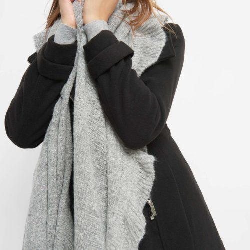 Langer Schal mit Volantkante