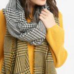 Schal mit Pepita-Muster