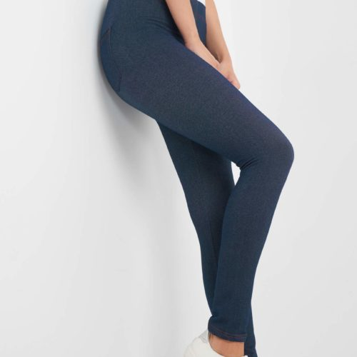 Denim-Leggings mit Ziernaht