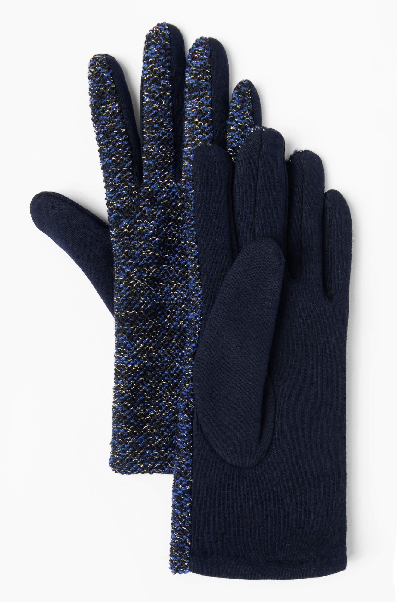 Handschuhe mit Metallic-Garn