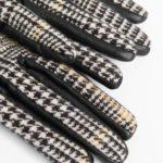 Handschuhe mit Pepita-Muster