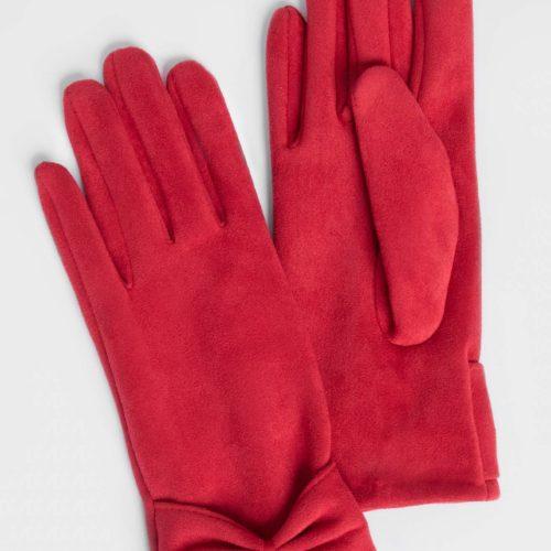 Handschuhe in Velourslederoptik