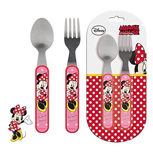 Minnie Mouse–2-teiliges Besteck-Set aus Metall (Suncity mid101513)