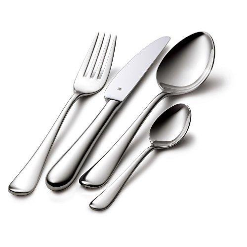 WMF Signum Besteckset, 24-teilig, für 6 Personen, Monobloc-Messer, Cromargan Edelstahl poliert, spülmaschinengeeignet