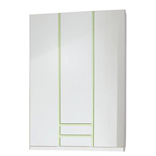 Wimex Kleiderschrank/ Drehtürenschrank Bibi, 3 Türen, (B/H/T) 135 x 197 x 58 cm, Weiß