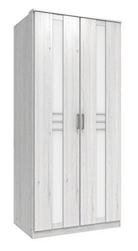 Wimex Kleiderschrank/ Drehtürenschrank Bornholm, (B/H/T) 90 x 197 x 58 cm, Weißeiche