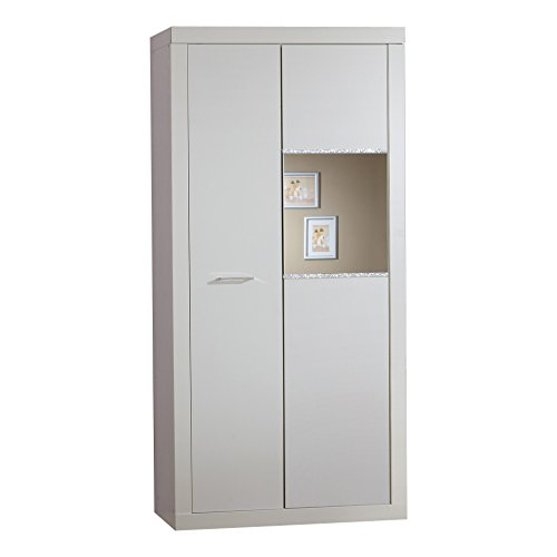 Wimex Kleiderschrank/ Drehtürenschrank Nightlight, 2 Türen, (B/H/T) 90 x 198 x 58 cm, Weiß