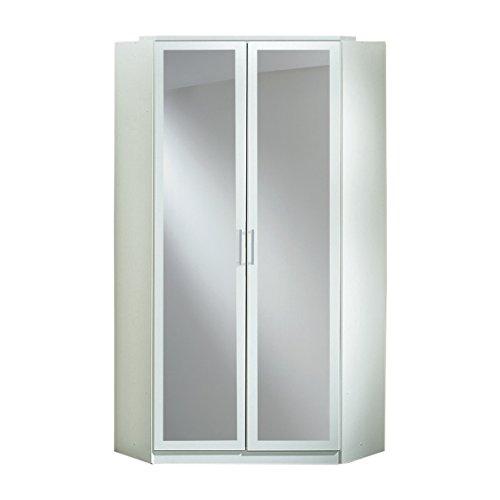Wimex Kleiderschrank/ Eckschrank Click, 2 Türen, 1 Spiegel, (B/H/T) 95 x 198 x 95 cm, Alpinweiß