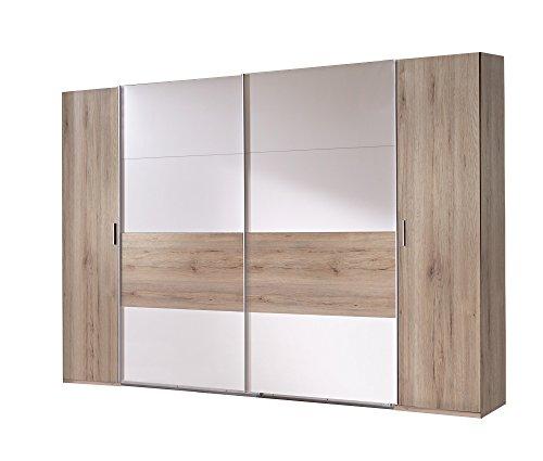 Wimex Kleiderschrank/ Eckschrank Click, 2 Türen, 1 Spiegel, (B/H/T) 95 x 198 x 95 cm, Eiche Sägerau