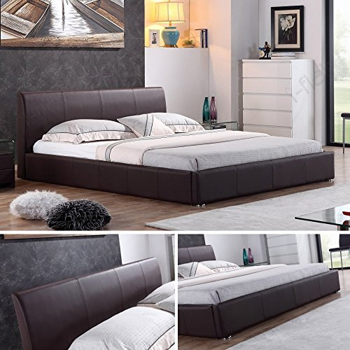 i-flair Designer Polsterbett Bett Monaco Doppelbett 3 Farben & 3 Größen zur Auswahl