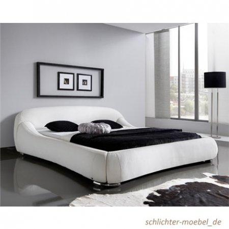 sette notti  Polsterbett Picasso mit Kunstlederbezug creme Liegefläche circa 160 x 200 cm, weiß 329-10-40000