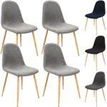 4X Design Stuhl mit Stoffbezug - Esszimmerstühle Stühle Designerstuhl Arbeitsstuhl Küchenstühle Wohnzimmerstuhl Esszimmerstuhl Sitzgruppe Essgruppe Bürostuhl Polsterstuhl