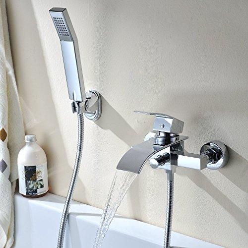 BONADE Funktional Thermostat Badewannenarmatur mit Praktitischem Regalfach Wandhalterung Montage …