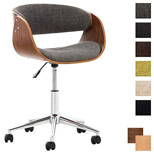 CLP Bürostuhl Portmore mit Stoffbezug | Höhenverstellbarer Schreibtischstuhl mit Gepolsterter Sitzfläche | Drehstuhl mit Leichtlaufrollen