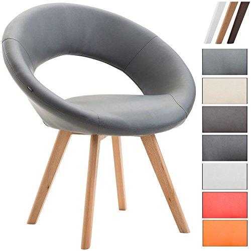 CLP Esszimmerstuhl Beck mit Armlehnen I Gepolsterter Stuhl mit sesselförmigem Sitz und Kunstlederbezug I In Verschiedenen Farben erhältlich