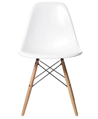 CrazyGadget–Inspired by Charles & Ray Eames DSW Eiffel Esszimmer Holz Retro Design für Büro Stuhl–weiß