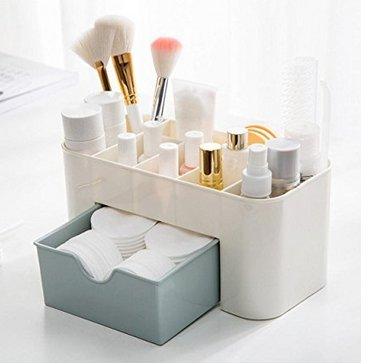 Danapp Kosmetik-Aufbewahrungsbox Schublade Kunststoff Schreibtisch Kommode Kosmetik Finish Regal Organizer Sparen Platz Rosa
