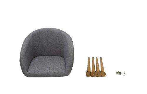Duhome Elegant Lifestyle Esszimmerstuhl aus Stoff (Leinen) Farbauswahl Retro Design Stuhl mit Rückenlehne Metallbeine Holzoptik WY-8023