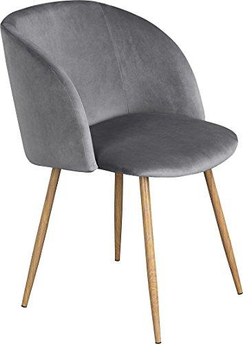 EGGREE 1er Set/2er Set Vintager Retro Sessel Polstersessel Samt Lounge Sessel Clubsessel Fernsehsessel Grün/Grau/Rosa