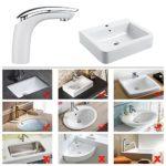 Homelody Weiß Chrom Badarmatur Waschtischarmatur Hochdruck Wasserhahn Bad Armatur Waschbecken Mischbatterie Einhebelmischer f. Badezimmer