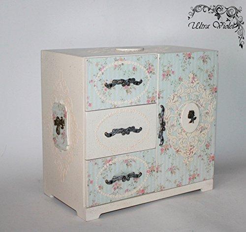 Kommode / Minikommode mit Spiegel, Schatulle ,Box, schachteln, Kästchen, wood, für schmuck