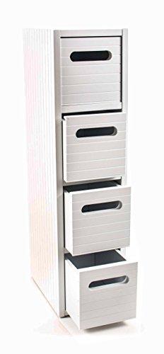 Kommode mit 4 Schubladen, Lamellenfronten, modernes Design, Höhe ca. 60 cm