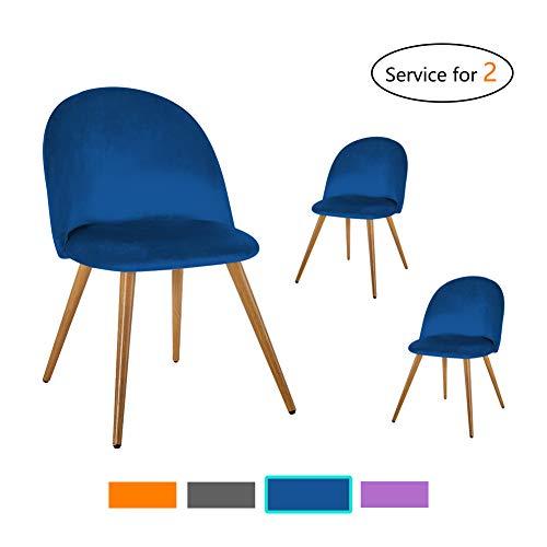 TUKAILAI Stühle Esszimmerstuhl - Stuhl Esszimmerstühle Homewares Stuhl für Küche, Büro, Lounge, Retro Konferenzzimmer, Polsterstuhl esstisch stühle Polstersessel by, 2 Set