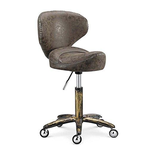 ZHANGRONG- Haarhocker Retro Sofa Stuhl Europäische Niet-Windgurt-Rückenlehne kann nach oben und unten angehoben werden Sofa Hocker (Stil optional) --Barhocker