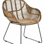 animal-design RATTANSTUHL Rattan-Stühle Korb-Stuhl Korb-Sessel - braun - Retro 50er Lounge Loft Esszimmer Garten Küche Bistro Balkon Terrasse mit Armlehne