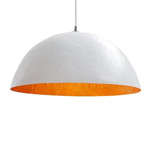 Design Hängeleuchte GLOW weiss gold 50cm Pendelleuchte Lampe