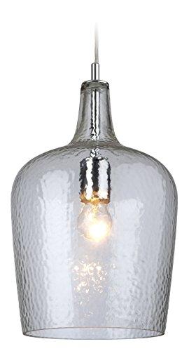 Firstlight Hängelampe 2301AQ E27 mitEdison-Gewinde, 60Watt, Glas, Aquablau