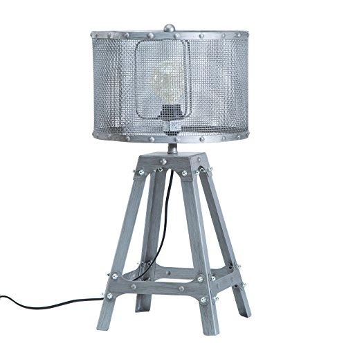 Moderne Tischleuchte LOFT 60cm iron grau Industrial Design Industrielampe Tischlampe Nachttischleuchte