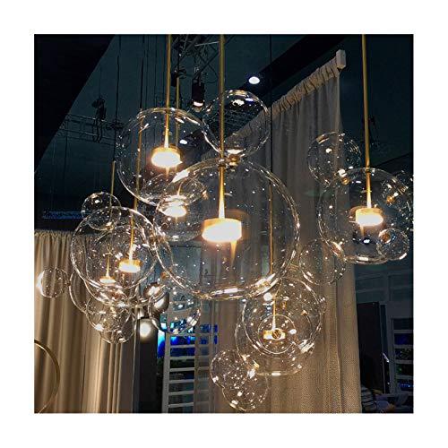 Nordic Restaurant Blase Ball LED Kronleuchter Bar Fenster Galerie Wohnzimmer Lampe Kreative Glas Magische Bohne Molekularen Kronleuchter